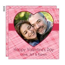 Red Heart Custom Valentine's Day Photo Cards - 23017