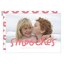 Smooches Personalized Valentine's Day Photo Cards - 23019