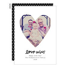Love Wins Custom Valentine's Day Photo Cards - 23020