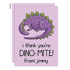 You're Dino-Mite Personalized Kids Valentine's Day Cards - 23021