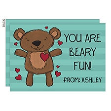 You Are Beary Fun Personalized Valentine's Day Cards - 23022