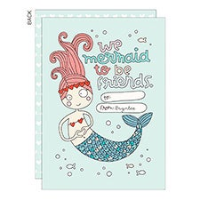 We Mermaid To Be Friends Personalized Valentine's Day Cards - 23024