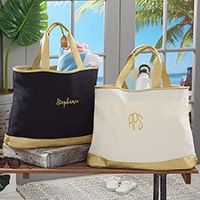 Custom Embroidered Travel Tote Bags - Monogram, Name, Initial - 23039