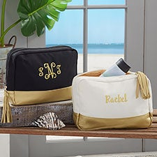 Custom Embroidered Cosmetic Travel Case - Monogram, Name, Initial - 23040