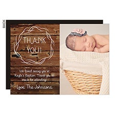 Rustic Religious Thank You Cards - 23062
