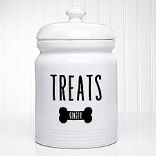 Good Dog Personalized Dog Treat Jar - 23066