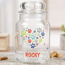 Paws On My Heart Personalized Dog Treat Jar - 23069
