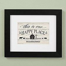 This Is Our Happy Place Farmhouse Personalized Framed Prints - 23077