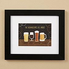 Beer Suds Beer Art Personalized Framed Prints - 23080