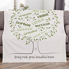 Personalized Family Tree Blankets - 23081