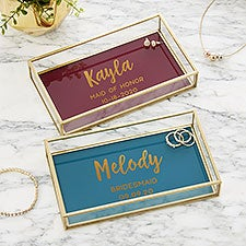 Bridal Party Personalized Jewelry Tray - 23096