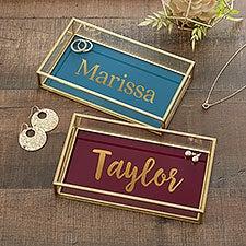 Personalized Jewelry Tray - Modern Name - 23097