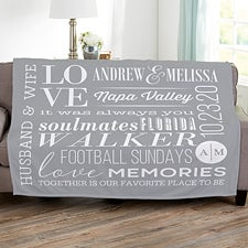 Personalized Couples Blankets - Better Together - 23100