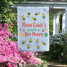 Personalized Bee Garden Flag Gift For Grandma - 23101