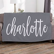 Personalized Name Blankets - Scripty Style - 23106