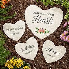 Memorial Garden Personalized Heart Garden Stones - 23111