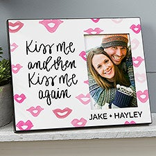 Kiss Me And Then Kiss Me Again Personalized Picture Frame - 23112