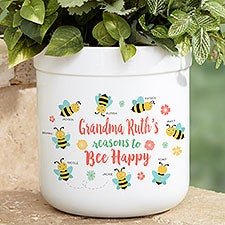 Bee Happy Personalized Outdoor Flower Pot - 23113