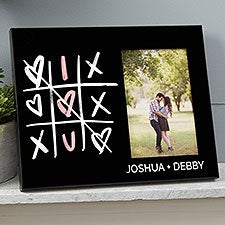 Romantic Tic-Tac-Toe Hearts Personalized Picture Frame - 23149