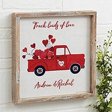 Personalized Rustic Valentine Truck Wall Art - 23154