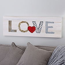 Rustic Love Personalized Canvas Print - 23162