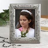 Personalized First Communion Pewter Picture Frame - 2318
