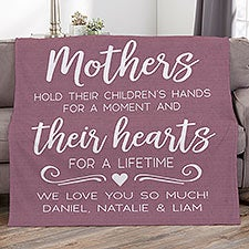 Personalized Blankets - Mothers Hold Their Child's Hand... - 23184