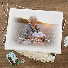 Personalized Memorial Photo Memory Keepsake Box - 23212