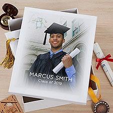 Personalized Graduation Photo Memory Keepsake Box - 23213