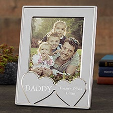 His Heart Personalized Silver Picture Frame - 23232