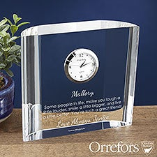 Orrefors Engraved Crystal Clock Gift - Add Any Text - 23239