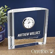 Orrefors Engraved Crystal Clock Gift - 23240