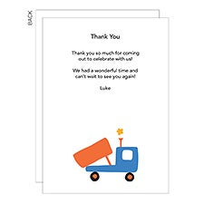 Personalized Kids Thank You Cards - Truck, Train, Plane, Boat - 23267
