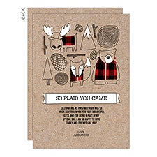 Woodland Kids Personalized Birthday Thank You Cards - 23295