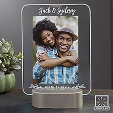 LED Picture Frames Personalized Light Up Glass Couples Frame - 23320