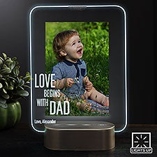Personalized LED Picture Frame - Love Begins With Dad - 23324
