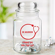 Doctor Office Personalized Treat & Candy Jar - 23330