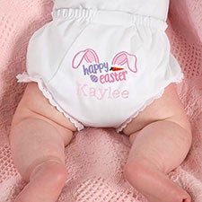 Personalized Baby Bloomers Diaper Covers - Happy Easter - 23333