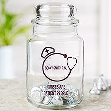 Nurse Desk Personalized Treat & Candy Jar - 23345