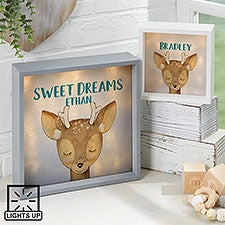 Personalized LED Shadow Box - Woodland Deer - 23348