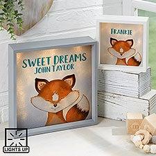Personalized LED Shadow Box - Woodland Fox - 23350