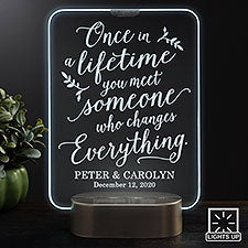 Personalized Wedding LED Light Gifts - Once In A Lifetime - 23356