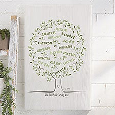 Personalized Family Tree Wall Art - Family Tree Of Life - 23357
