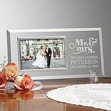 Personalized Wedding Glass Picture Frames - Happy Couple - 23388