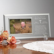 We Shall Meet Again Engraved Glass Memorial Picture Frame - 23390