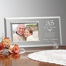 Personalized Anniversary Glass Picture Frames - Years Together - 23391