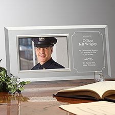 Personalized Glass Picture Frame Award - Reflections of Excellence - 23393