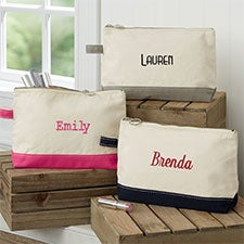 Custom Embroidered Canvas Makeup Bags - 23412