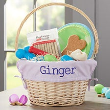 Personalized Dog Easter Baskets Embroidered With Any Name - 23413