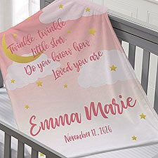 Personalized Baby Blankets - Moon & Stars - 23434
